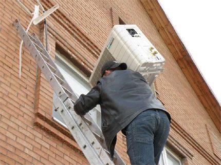 Dismantling the external unit split system