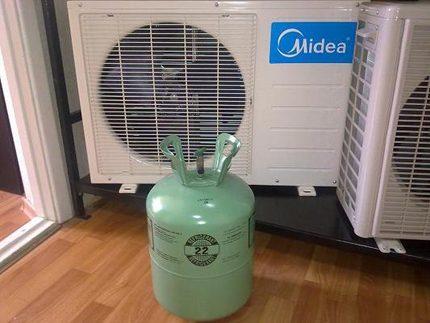 Refrigerant inside split system