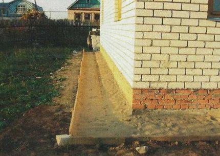 Clay blind area