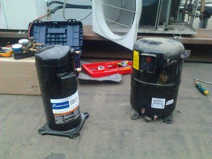 Compressors split systems