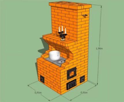 Small brick oven