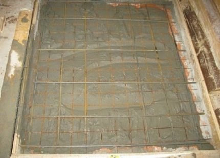 Reinforcement of the upper layer of the foundation