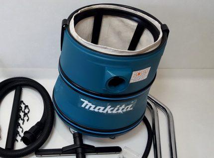 Makita vacuum cleaner tank with dust bag
