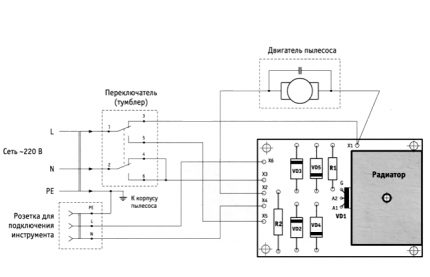 Electrical device connection diagram