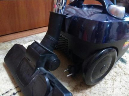 Midea vacuum cleaner after cleaning