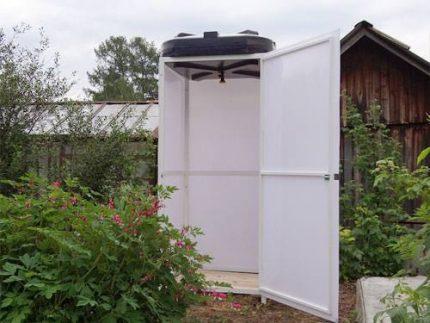 Elliptical tank for a summer shower
