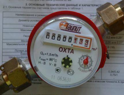 Water meter reading
