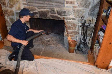Nettoyage mécanique de cheminée