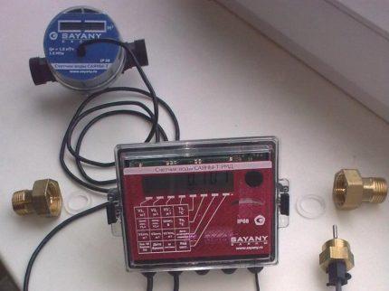 Compteur avec capteur de température
