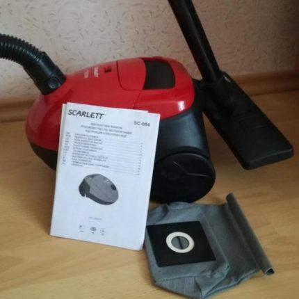 Vacuum cleaner parameters