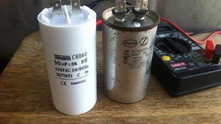 Starting capacitors split systems