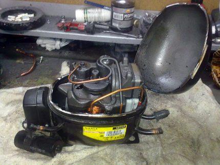 Air conditioning compressor repair