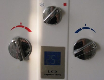 Panneau de commande du chauffe-eau à gaz
