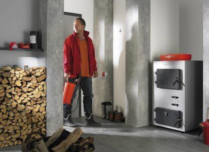 Solid fuel boiler efficiency
