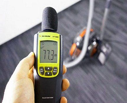 Vacuum cleaner noise measurement