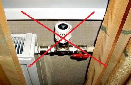 Incorrect thermostat installation