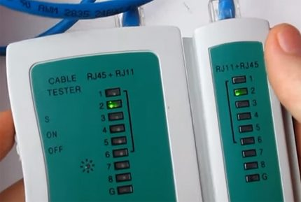 Network cable testing