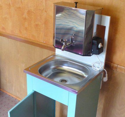 Heated washbasin