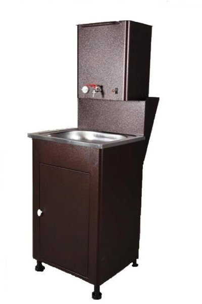 Cottage washbasin with heated water