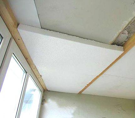 Isolation du plafond de la loggia