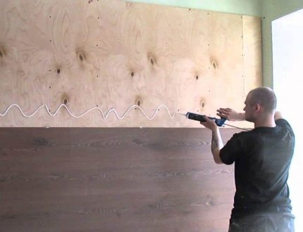 The final process of wall decoration