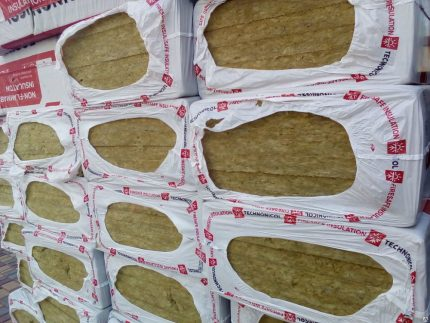 Mineral wool in sheets