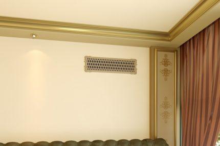 Interior ventilation grill
