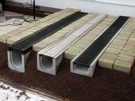 Concrete shower trays