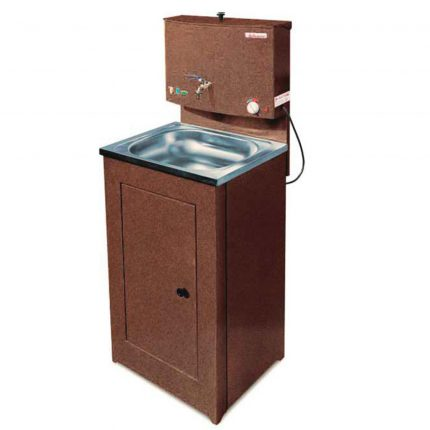 Washbasin with water heating function