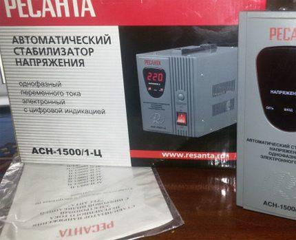 Voltage stabilizer documentation