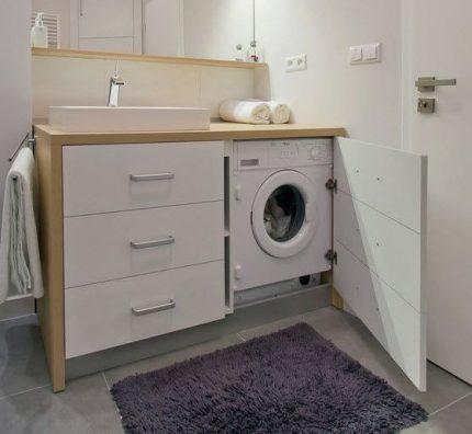 Built-in washing machine model