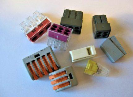 Assortment of Vago terminal blocks