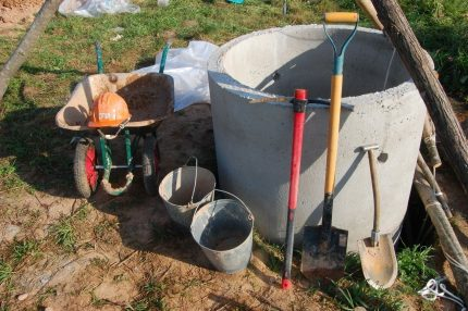Type of concrete ring for a well