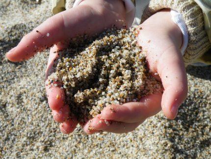 Nuplautas kvarco smėlis