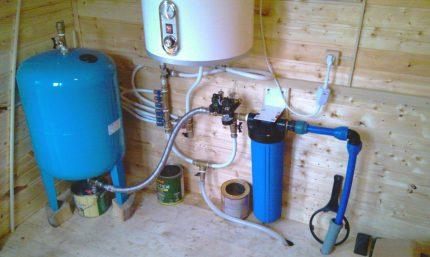 Vandens tiekimo sistemos akumuliatorius