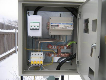 Three-phase switchboard