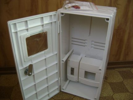 Plastic box for electric meter