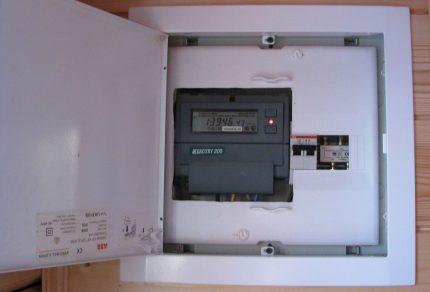 Domestic box and counter