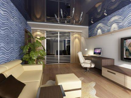 Plafonds hauts dans l'appartement