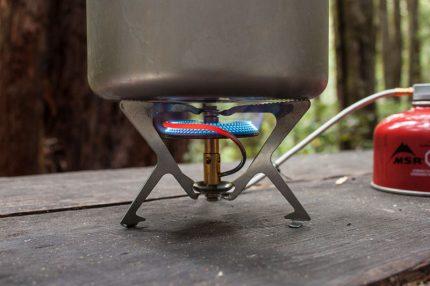Gas burner with hose