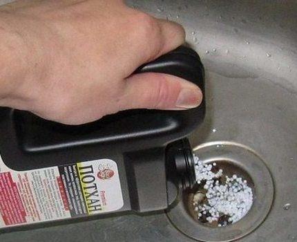 Pipe blockage granules
