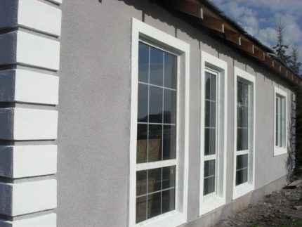 Facade plaster for decoration