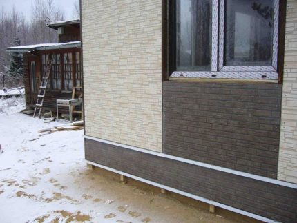 Facing the house with fiber cement panels