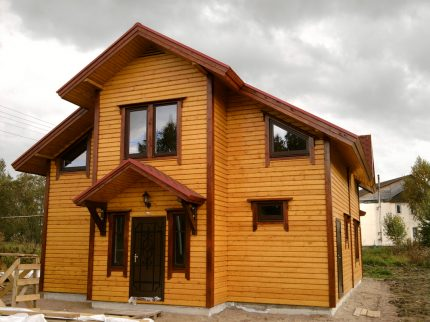 Wooden cladding at home