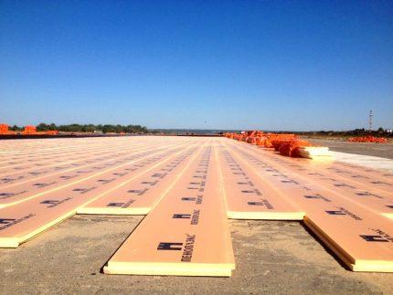 Runway thermal insulation