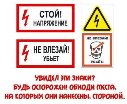 Affiche de signe multiple