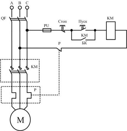 Schéma de connexion MP simple