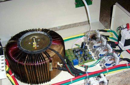 Disassembled voltage regulator