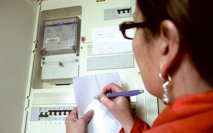 Checking the operation of the electric meter