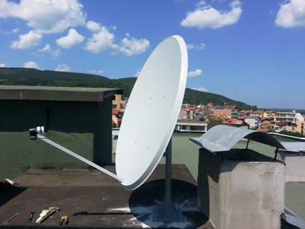 Météo favorable pour régler l'antenne